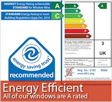 Click for more information about our energy efficient windows